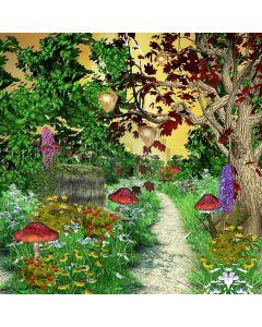 Mushroom Trail Computer Printed Photography Backdrop XLX-422