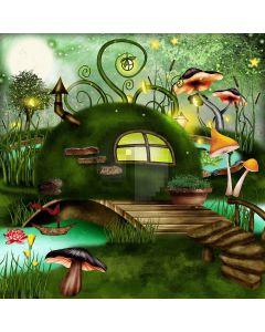 Magical Mushrooms  Computer Printed Photography Backdrop XLX-472