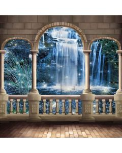 Arched Pillars Computer Printed Photography Backdrop XLX-513