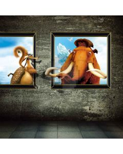 Stereoscopic Animals  Computer Printed Photography Backdrop XLX-523