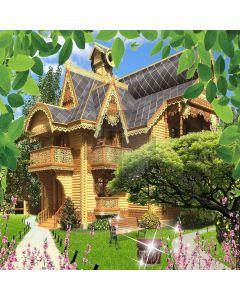 Luxury Manor  Computer Printed Photography Backdrop XLX-550