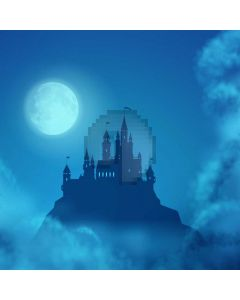 Moon Castle Smoke Computer Printed Photography Backdrop XYZ-984