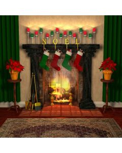 Peace Fireplace Digital Printed Photography Backdrop YHA-076