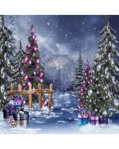 Wonderful Christmas Tree Digital Printed Photography Backdrop YHA-078