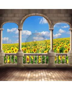 The Clearness Of Sunflowers Digital Printed Photography Backdrop YHA-084