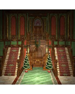 Christmas Church Digital Printed Photography Backdrop YHA-122