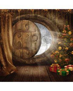 Bright Door Of Christmas Digital Printed Photography Backdrop YHA-126