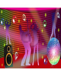 Dancing Party Digital Printed Photography Backdrop YHA-158