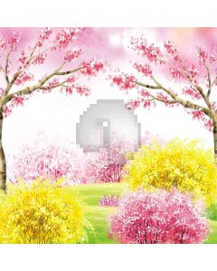 Spring Flowers Digital Printed Photography Backdrop YHA-199