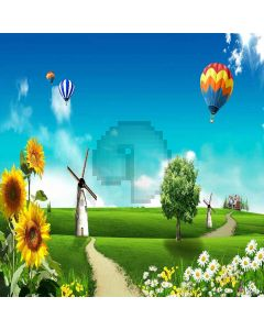 Countryside and balloon Digital Printed Photography Backdrop YHA-200