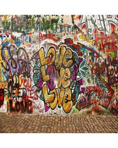 Loving Graffiti Digital Printed Photography Backdrop YHA-236