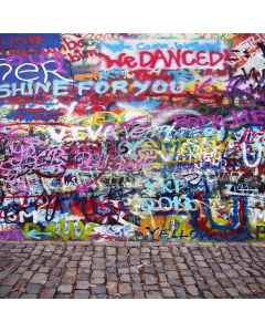 Dancing Graffiti Digital Printed Photography Backdrop YHA-242