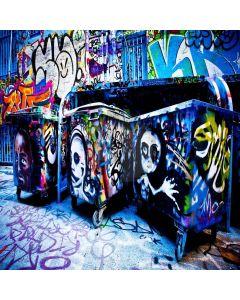 Terrified Graffiti Digital Printed Photography Backdrop YHA-244