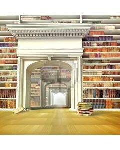Huge Library Digital Printed Photography Backdrop YHA-274