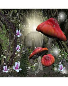 Large mushrooms Digital Printed Photography Backdrop YHA-304