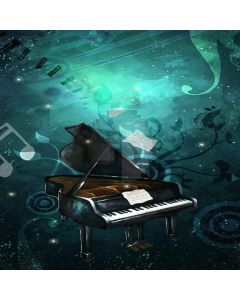 Playing Piano Digital Printed Photography Backdrop YHA-352