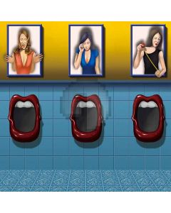 Personality Toilet Digital Printed Photography Backdrop YHA-364