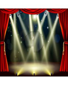 Bright Stage Lights Digital Printed Photography Backdrop YHA-475