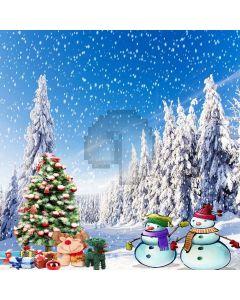 Outdoor Christmas Tree Digital Printed Photography Backdrop YHA-490