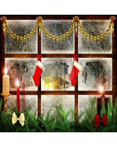 Christmas Stockings Digital Printed Photography Backdrop YHA-509