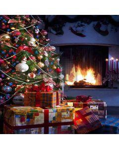 Warm Fireplace Digital Printed Photography Backdrop YHA-522