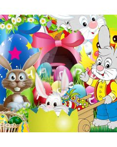 Cute Rabbits Digital Printed Photography Backdrop YHA-545