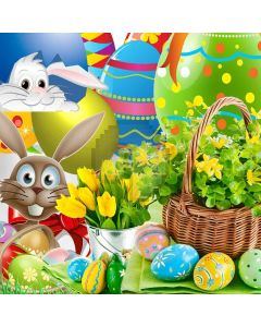 Easter Eggs Digital Printed Photography Backdrop YHA-546