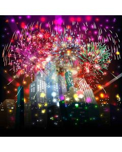 Fantastic Fireworks Digital Printed Photography Backdrop YHA-555