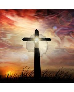 Standing Cross Digital Printed Photography Backdrop YHA-556