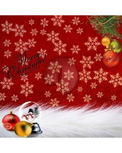 Christmas Snow Celebration Digital Printed Photography Backdrop YHB-012