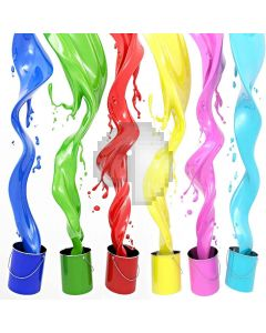 Colored Paint Digital Printed Photography Backdrop YHB-104