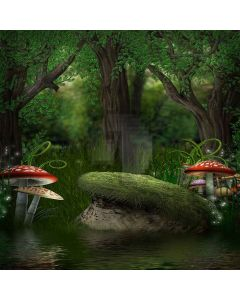 Thriving Mushrooms Digital Printed Photography Backdrop YHB-171