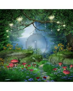 Mysterious Forest Digital Printed Photography Backdrop YHB-175