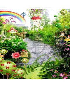 Cartoon Rainbow Digital Printed Photography Backdrop YHB-184