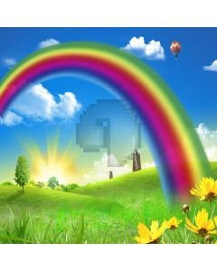 Beautiful rainbow Computer Printed Photography Backdrop YKY-057
