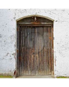 Worn-Out Door  Computer Printed Photography Backdrop YKY-103