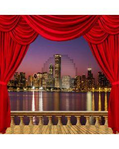 City Night Background Computer Printed Photography Backdrop ZJZ-003