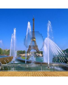 Eiffel Tower With Fountain Computer Printed Photography Backdrop ZJZ-040