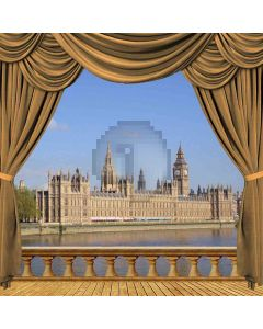 London View From Balcony Computer Printed Photography Backdrop ZJZ-047