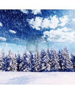 Heavy snow covered pines Computer Printed Photography Backdrop ZJZ-066
