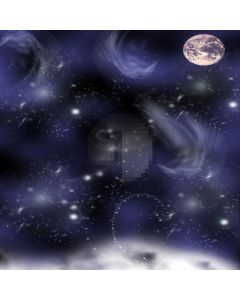 Mysterious fantasy night sky Computer Printed Photography Backdrop ZJZ-146