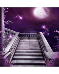 Stair Under The Moonlight Computer Printed Photography Backdrop ZJZ-357
