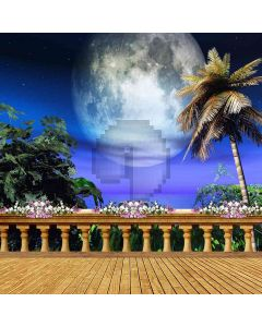 Big Moon Above The Water Computer Printed Photography Backdrop ZJZ-450