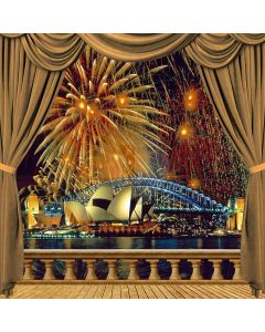 Fireworks In Sydney Computer Printed Photography Backdrop ZJZ-820