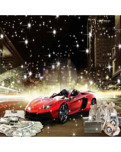 Luxurious Car Computer Printed Photography Backdrop ZJZ-863