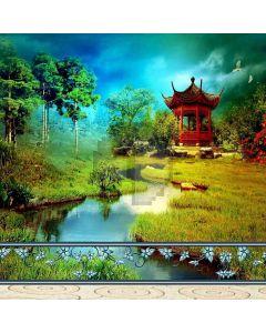 Exquisite Pavilion Computer Printed Photography Backdrop ZJZ-871