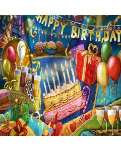 Birthday Party Computer Printed Photography Backdrop ZJZ-873