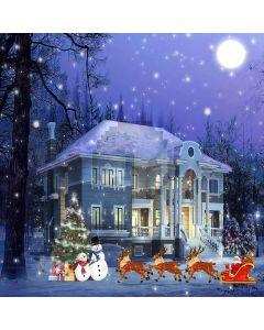 Wonderful Christmas Night Computer Printed Photography Backdrop ZJZ-878