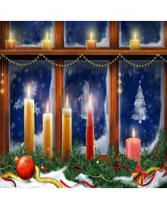 Bright Candlelight Computer Printed Photography Backdrop ZJZ-881