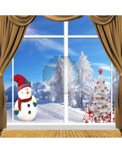 Snow-covered Christmas Tree Computer Printed Photography Backdrop ZJZ-902